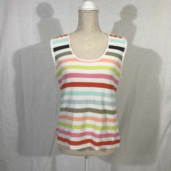 One Girl Who Tops - ☘️Anthropologie one girl who multicolor stripe top
